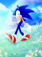 happy birthday SONIC! by sujinee