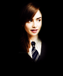 Lily Collins as Ravenclaw by PoketJud