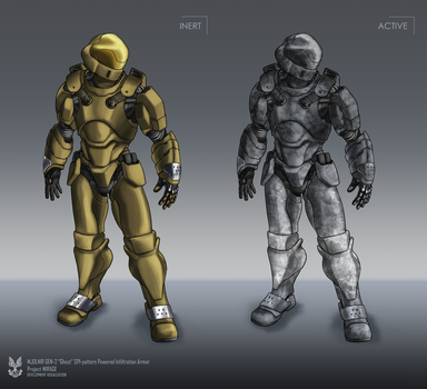 GHOST Powered Infiltration Armor by The-Chronothaur