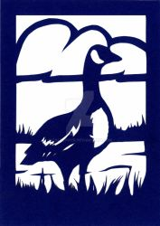 Canada Goose Papercut by calzephyr