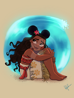 Mickey Ears - Moana by DylanBonner