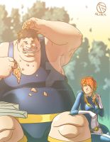 The Blob and Lass colored by Alian916