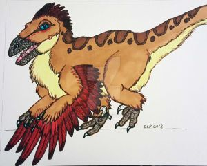Commission-Echrei the Utahraptor  by ChocolateStarfire