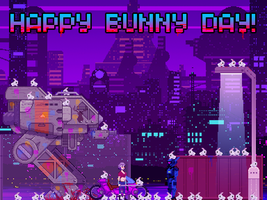 Dusk Bunnies: Happy Bunny Day! by incomitatum