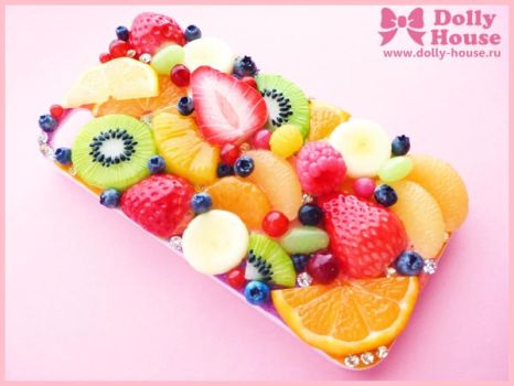 iPhone 4 Case Fruits Symphony 8 by Dolly House by SweetDollyHouse