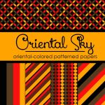 Free Oriental Sky: Oriental-Colored Papers by TeacherYanie