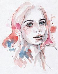 Singing of passion, watercolor painting by jane-beata