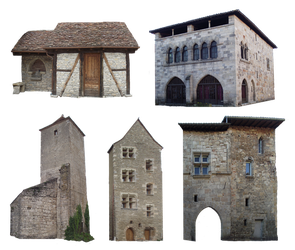 PNG medieval houses - 037 by HermitCrabStock