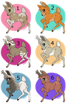 Deer Adoptables 1~2/6 Open~ by Xbox-DS-Gameboy