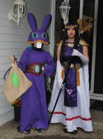 Ravio and Hilda Cosplay by sleepyotter