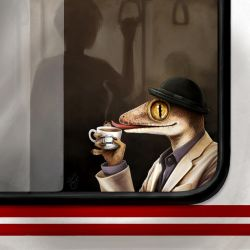Teatime on Public Transport by blayrd
