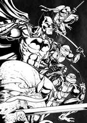 Inktober 2017 Day 29: United (Batman/TMNT) by Smully