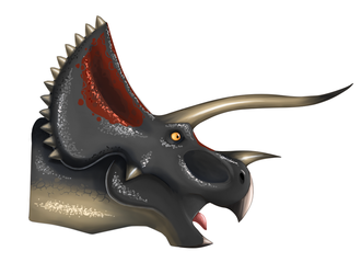 Triceratops head by Lordstevie