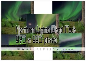 Northern Lights Bkgd Pack by HarleyBliss