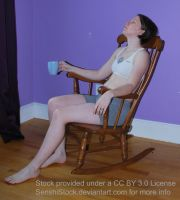 Drinking Sitting Figure Model Pose Reference Chair by SenshiStock
