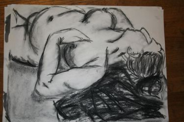 Nude women charcoal by Slothsofdeath