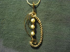 Crest Wire Pendant - Bronze/Gold by ItsAWrap