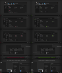 After Dark Red and Green Theme Win10 October 2018 by Cleodesktop