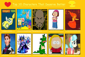 Top 10 Characters That Deserve Better by DarkBrawlerCF1994