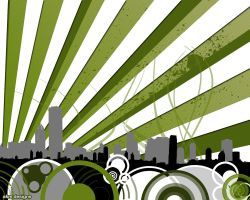 Greeen Vector City by amercer19