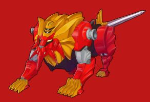 Lion Zord - Red Leo by Lysergic44