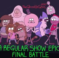A Regular Show Epic Final Battle (GIF) by TheGhostlyGem