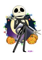 Jack Skellington fan art by SpookyPandaGirl