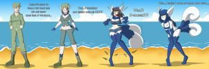 Beach Pussycat_Meowstic TG/TF Sequence by TFSubmissions