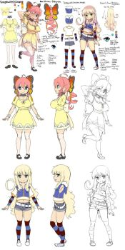 Himari and Lily Reference Sheet by MW-Magister