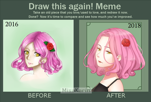 Draw this again! meme ft. Laura by MisaKarin