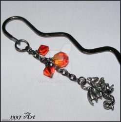 Gothic Dragon Bookmark by 1337-Art