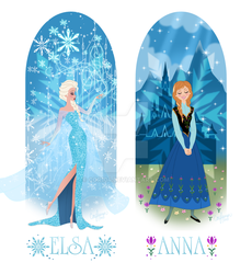 Anna And Elsa of Arendelle by Cor104