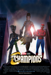 Marvel's Champions movie poster by ArkhamNatic