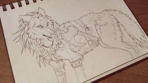 Young viking wolf by Kay-Ra