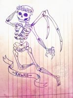 Kawaii skeleton by Witequeen