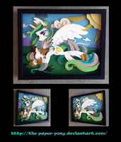 11 x 14 Princess Celestia Shadowbox by The-Paper-Pony