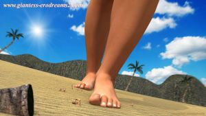Giantess Erodreams2 - Goddesses of the Island by ilayhu2