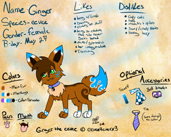 Ginger the eevee 2011 ref by Ging33rsnap