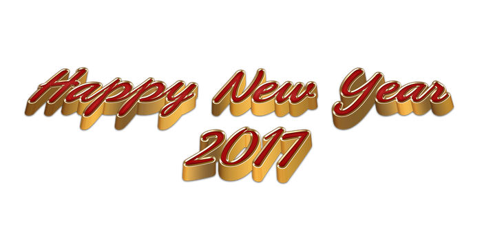 3D Happy New Year 2017 by Lacerem