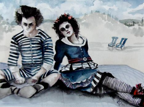 Sweeney Todd and Mrs. Lovett by FlyAwayFairy