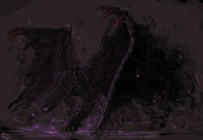 Gore Magala, the Black Eclipse Wyvern by Halycon450