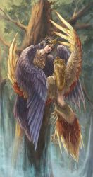 Sirin and Alkonost by Alivis