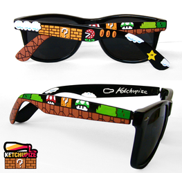 Super Mario custom Wayfarer style sunglasses by Ketchupize