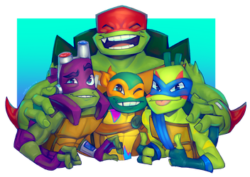 Family Portrait + TMNT Discord Server and more by Sylthian