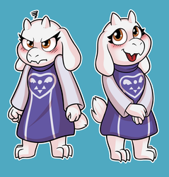 Toriel Stickers! by hirurux