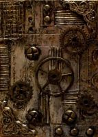 Steampunk inspired ATC by TinyAna