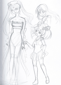Sailor Moon Sketch by xo-Sakura-chan