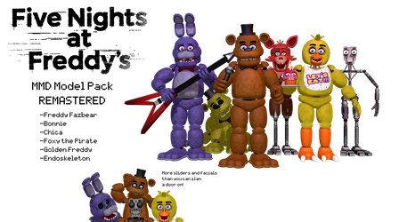 MMD- FNAF 1 Remastered Pack (DL) by OscartheChinchilla
