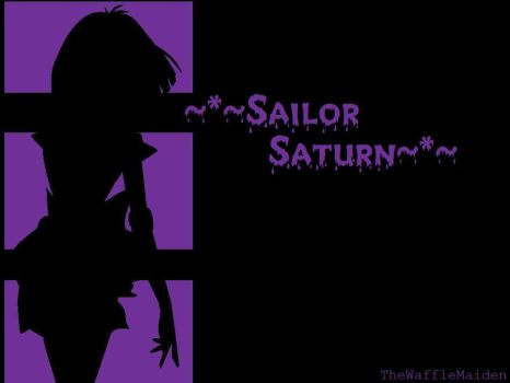 Sailor Saturn Wallpaper by TheWaffleMaiden