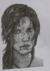 Lara Croft | Drawing by FreeError